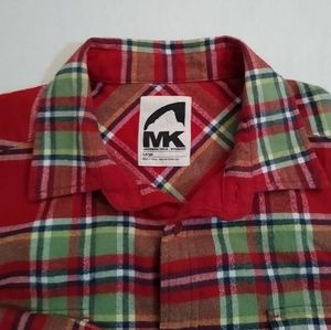 Mountain Khaki - Button Down Flannel - Red/Grn - L